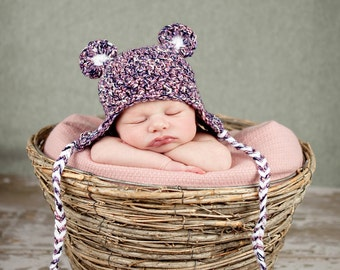 newborn baby bear hat photography prop animal hat