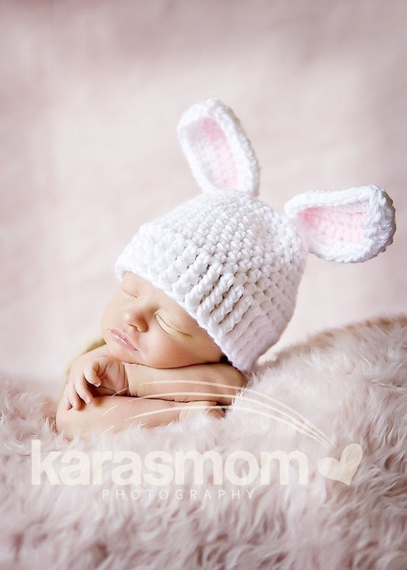 baby bunny beanie hat photography prop 2011 year of the Rabbit