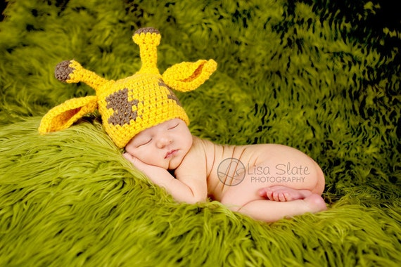 newborn hat giraffe photography prop