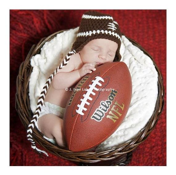 newborn baby football hat photography prop