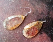 BLOODORANGES, Fruit Papyrus and Resin Earrings