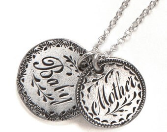 Mother & Baby - Sterling Love Token Necklace