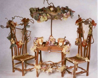 "Print, Fairy Furniture, ""Fairytale Teaparty"""