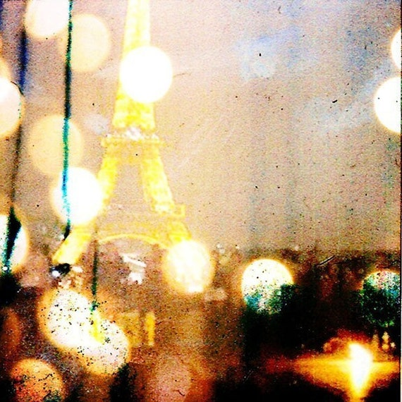 lights of paris print 8x8