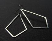 SALE - Silver Bright Kite Earrings