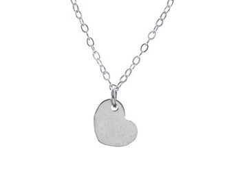 Modest Silver Heart Necklace