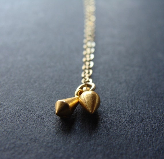 Two Gold Points Necklace