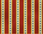 Windham fabrics Shelburne Circus 31375-5 Circus Stars Stripe Red 29 inches LAST PIECE