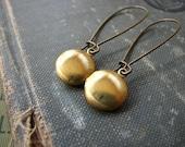 SOUVENIR Vintage Locket Earrings.....Round