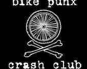 bike punx crash club . silkscreened patch .