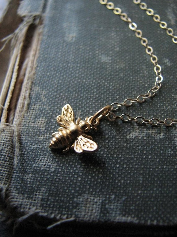 The Messenger.....Necklace.....Gold Napoleonic Bee