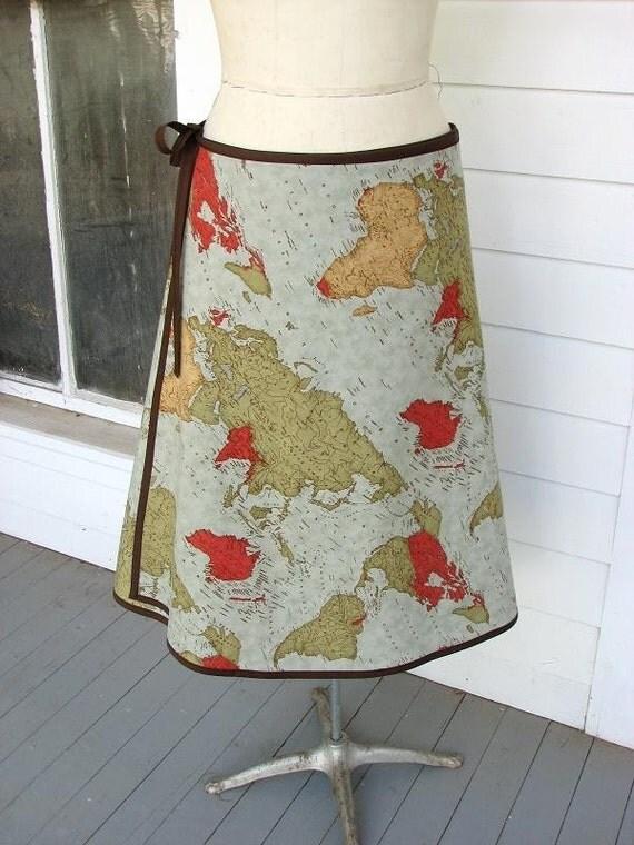 PEACE ON EARTH  Wrap Skirt