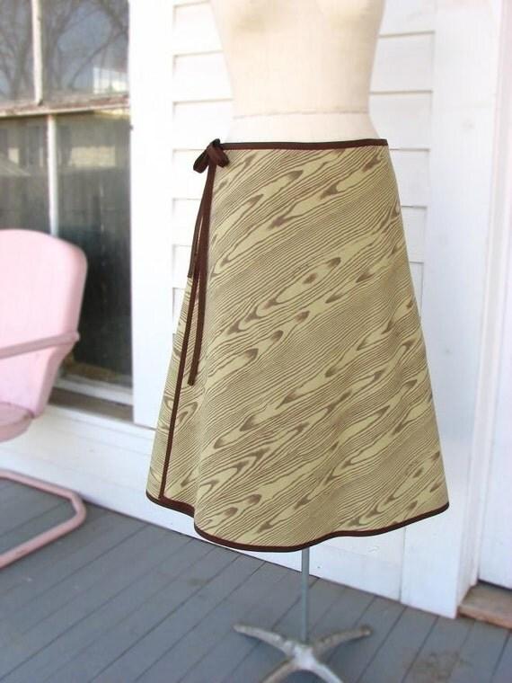 SALE.....FAUX BOIS Wrap Skirt.....Moss