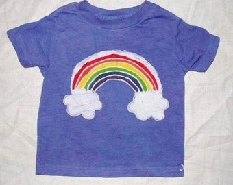 Kids Batik Rainbow  with Clouds Tee