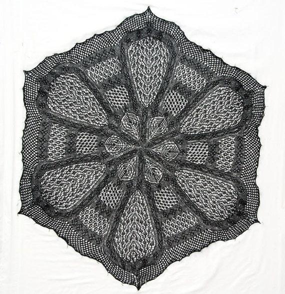 Irish Lace Knitting Pattern : Lace Knitting Pattern Irish Cathedral Shawl PDF