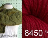 Knitting Kit Leaf Lace Shawlette - Colour 8450 Scarlet