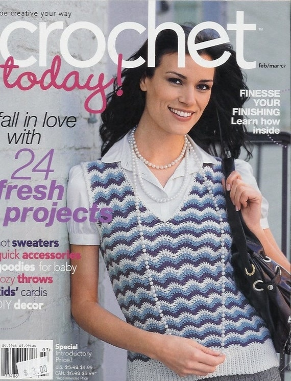 Sale Crochet Today Magazine Back Issue February March 2007
