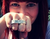 Mrs. Ring, Alternative Wedding Ring - Rock and Roll Bride Two Finger Ring