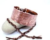 Custom Stamped Bracelet Personalized Jewelry Corset Bracelet Poem Phrase Message Jewelry