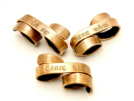 The Original Custom Double Banner Ring - Personalized Dad, Personalized Jewelry