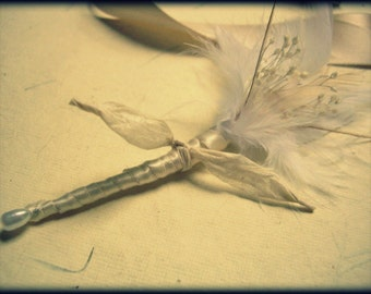 Groom Feather Boutonniere