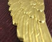 Flugel - Brass Wing Earrings