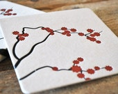 cherry blossom coaster set