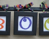 B is for Boo Cross Stitch Wall Art