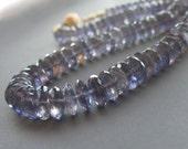 RESERVED . Iolite Necklace . Solid 14k Gold