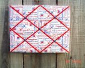 I'm A Republican Memory Board French Memo Board Support Your Party on Etsy Fabric Board Ribbon Board Photo Board Bulletin Board Men
