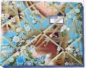 Designer Asian Brown Blue Memory Board French Memo Board 14X11 on Etsy Robert Kaufman
