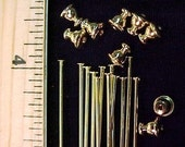20 Hatpin blanks 6 inch Gold color  findings stick hat pin..We sell hatpin blanks supplies. Make your own....