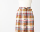 Mustard Plaid Pendleton Skirt Maxi Vintage