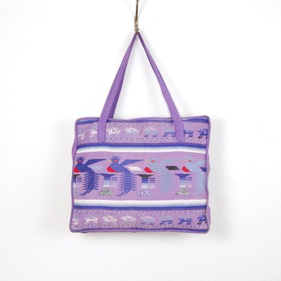 Ethnic Embroidered Textile Travel Bag Vintage