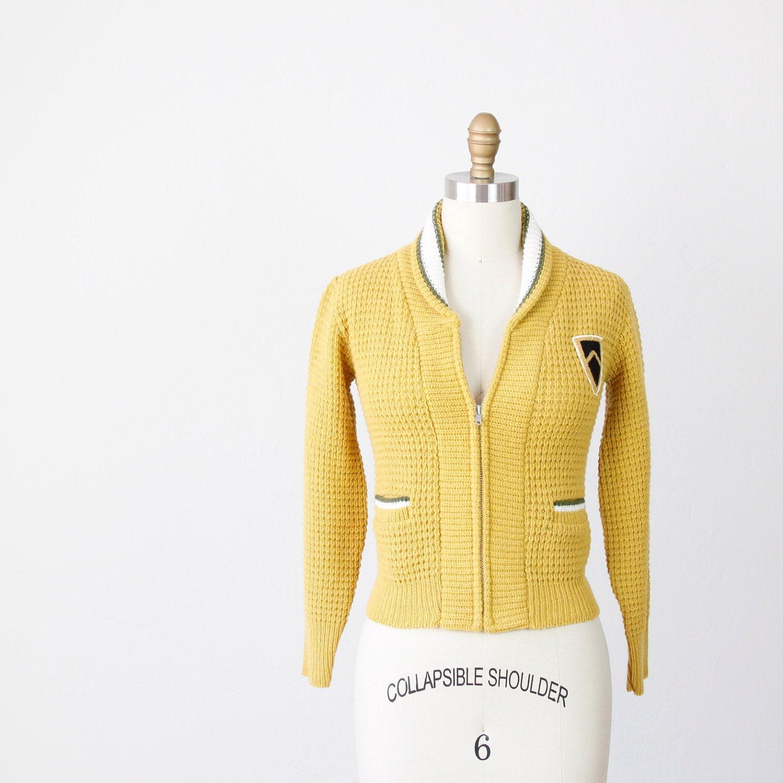 Mustard Yellow Cardigan Ladies 12
