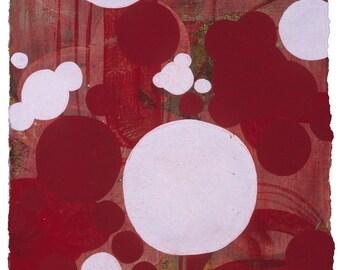 Maneki 2 -- 7.5 x 7.5  inch Framed Acrylic Painting