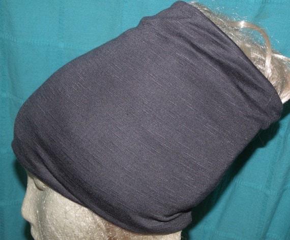 Slubby Charcoal Grey Head Hugger
