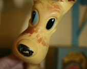 Vintage Long Necked Dog Rubber Toy - Plakie