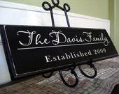 CUSTOM family name sign wedding gift home decor 8x24