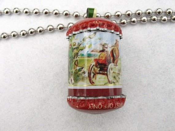 Horse and Carriage Pendant Rattle
