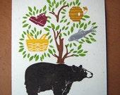 What do bears like print