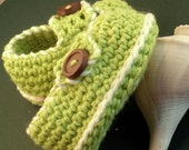 Instant Download - Crochet Pattern - Baby Button Loafers Booties PDF 2