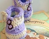 Instant Download - Crochet Pattern - Baby Buttons and Bows booties PDF 6