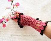 Instant Download - Crochet Pattern - Victoria Goth Gloves Romantic Vintage PDF 23