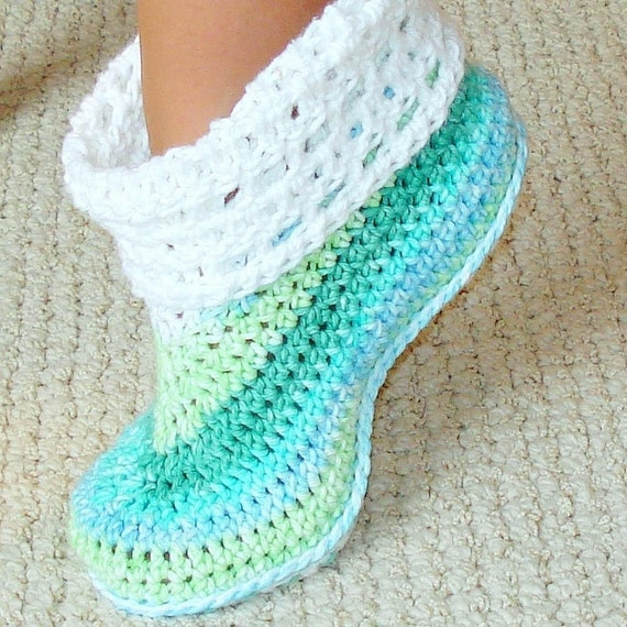 Cuffed booties crochet pattern adults and kids by Genevive ...