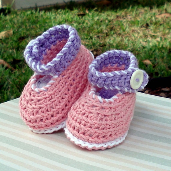 Instant Download - Crochet Pattern - Baby Ankle Strap Booties PDF 3