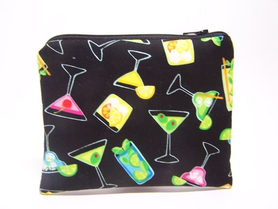 Cocktails Coin Purse
