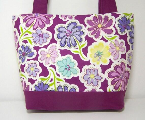 Daisy Dance Purple Medium Tote Bag