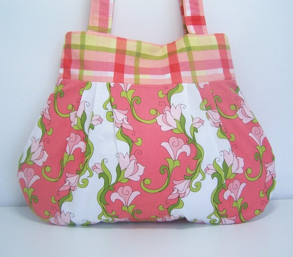 Pleated Purse Vines and Plaids