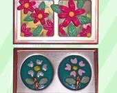 Flower Frame Magnet set -stand